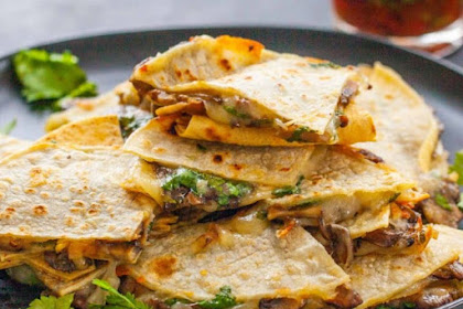 Crispy Cheese And Mushroom Quesadillas