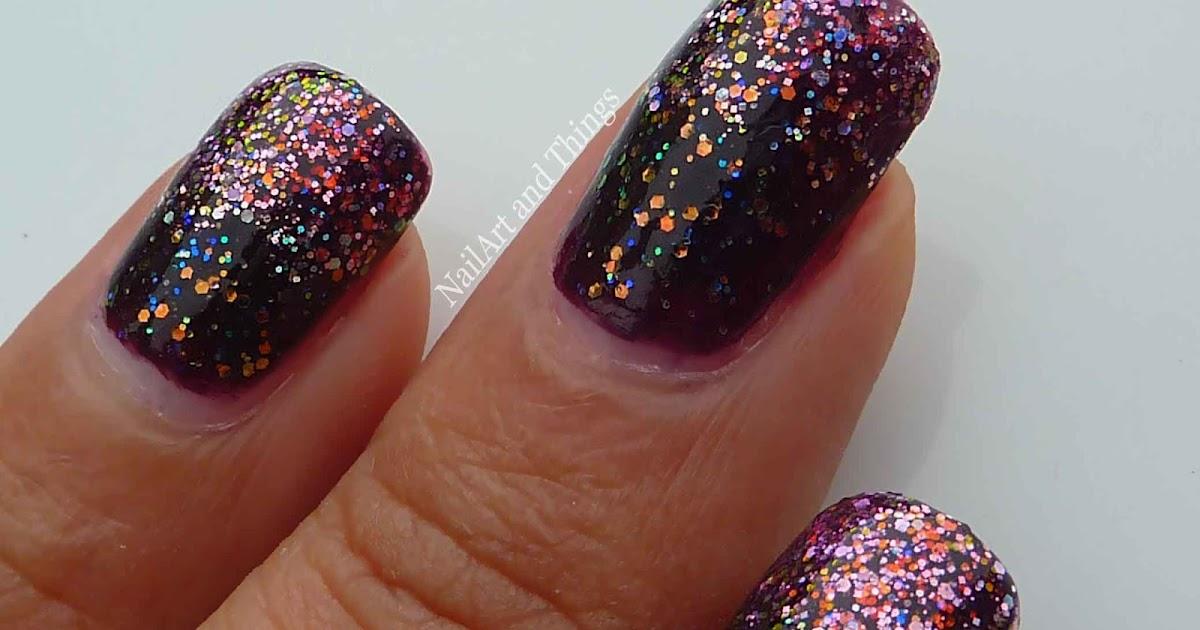 NailArt and Things: Classy Glitter Gradient Nail Art