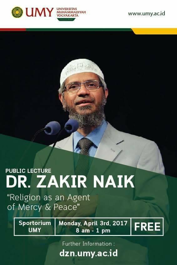 Publikasi Seminar Dr Zakir Naik di UMY
