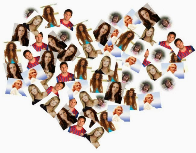 Montagem em forma de coração no site Funny.pho.to