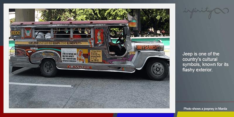 Iconic Philippine jeepney