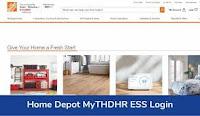 Home Depot MyTHDHR ESS Login