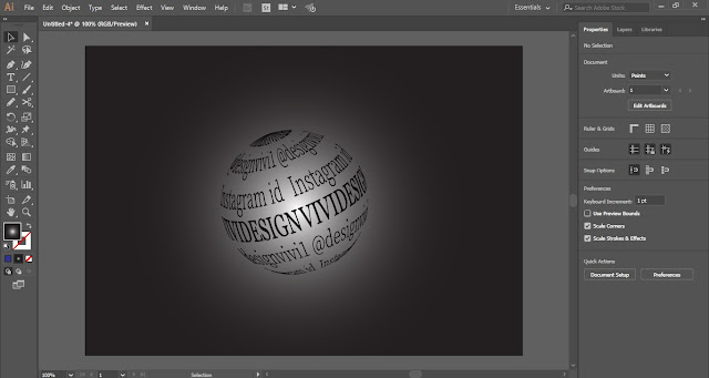 Wrap Text around Sphere in Adobe Illustrator