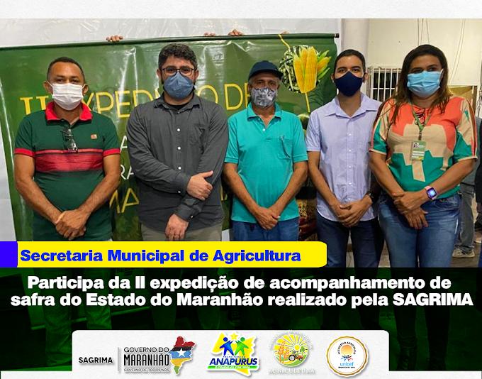 Secretaria municipal de agricultura de Anapurus participa da II expedição de acompanhamento de safra do Estado do Maranhão realizado pela SAGRIMA