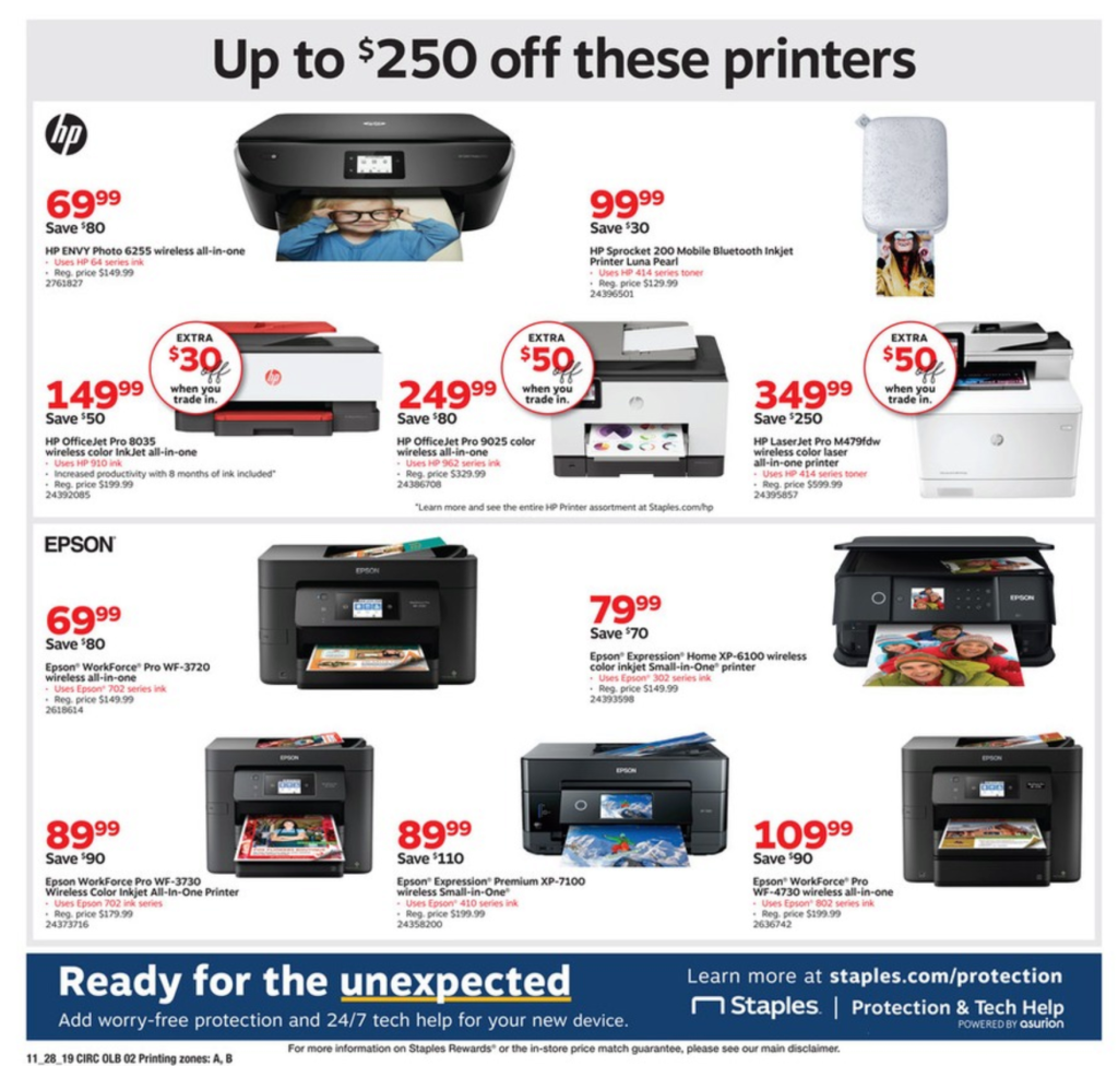 staples black friday ad 2019 printers
