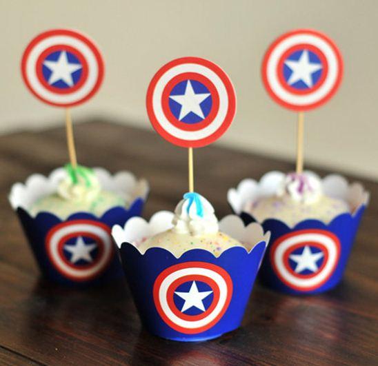 Gambar Kue Ultah Kapten Amerika