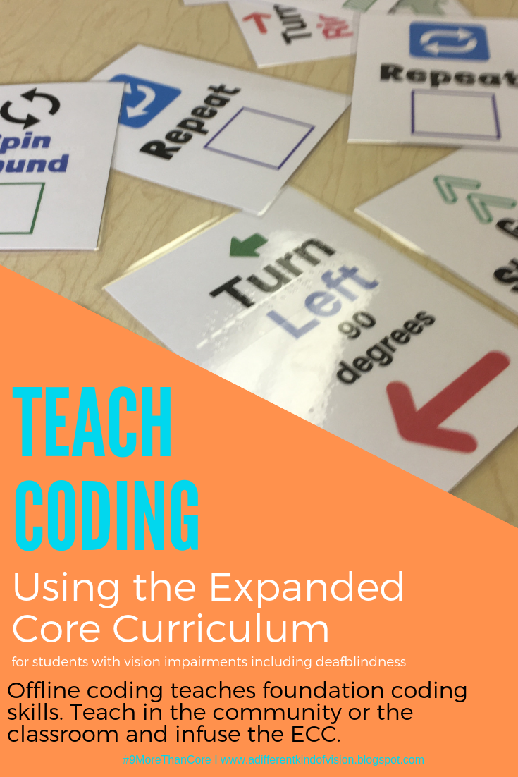 Teach Coding Using the Expanded Core Curriculum graphic