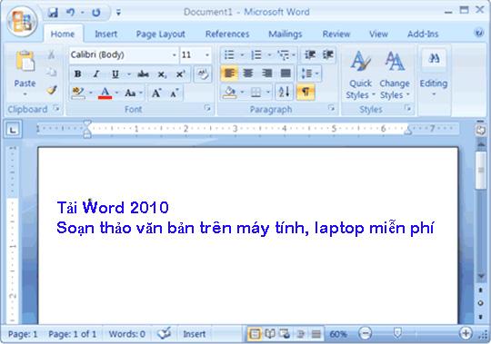 Tải Word 2010 - Soạn thảo văn bản trên máy tính, laptop miễn phí b