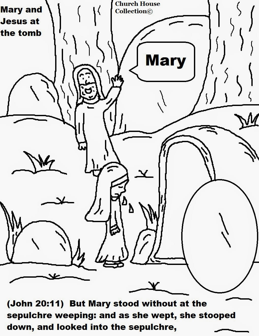 easter jesus resurrection coloring pages