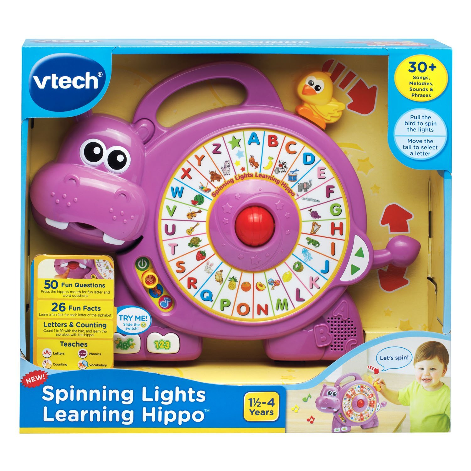VTech Spinning Lights Learning Hippo 4littleboyz