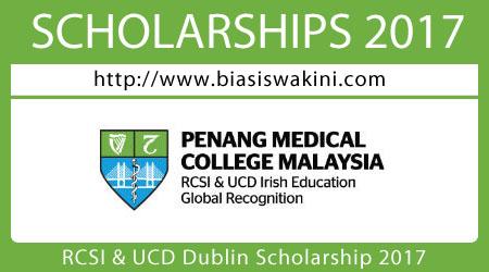 RCSI and UCD Dublin Scholarship 2017