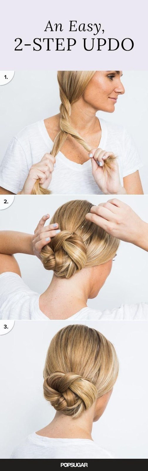 Easy Women's Hairstyles 2 Step UPDO