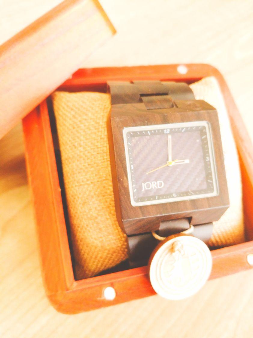 A classy Jord engravable wood watch