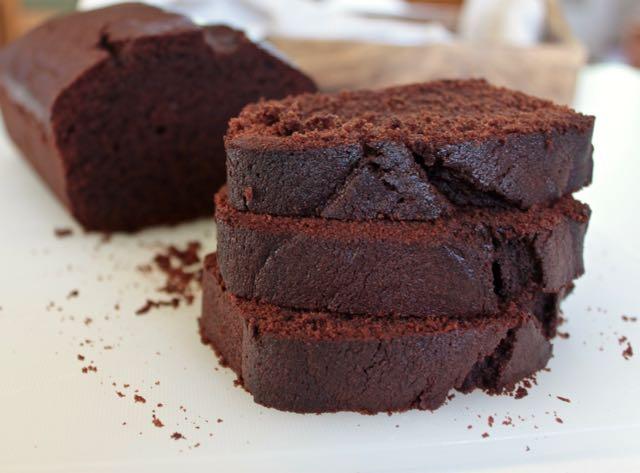 Loaf cake de xocolata i cafe