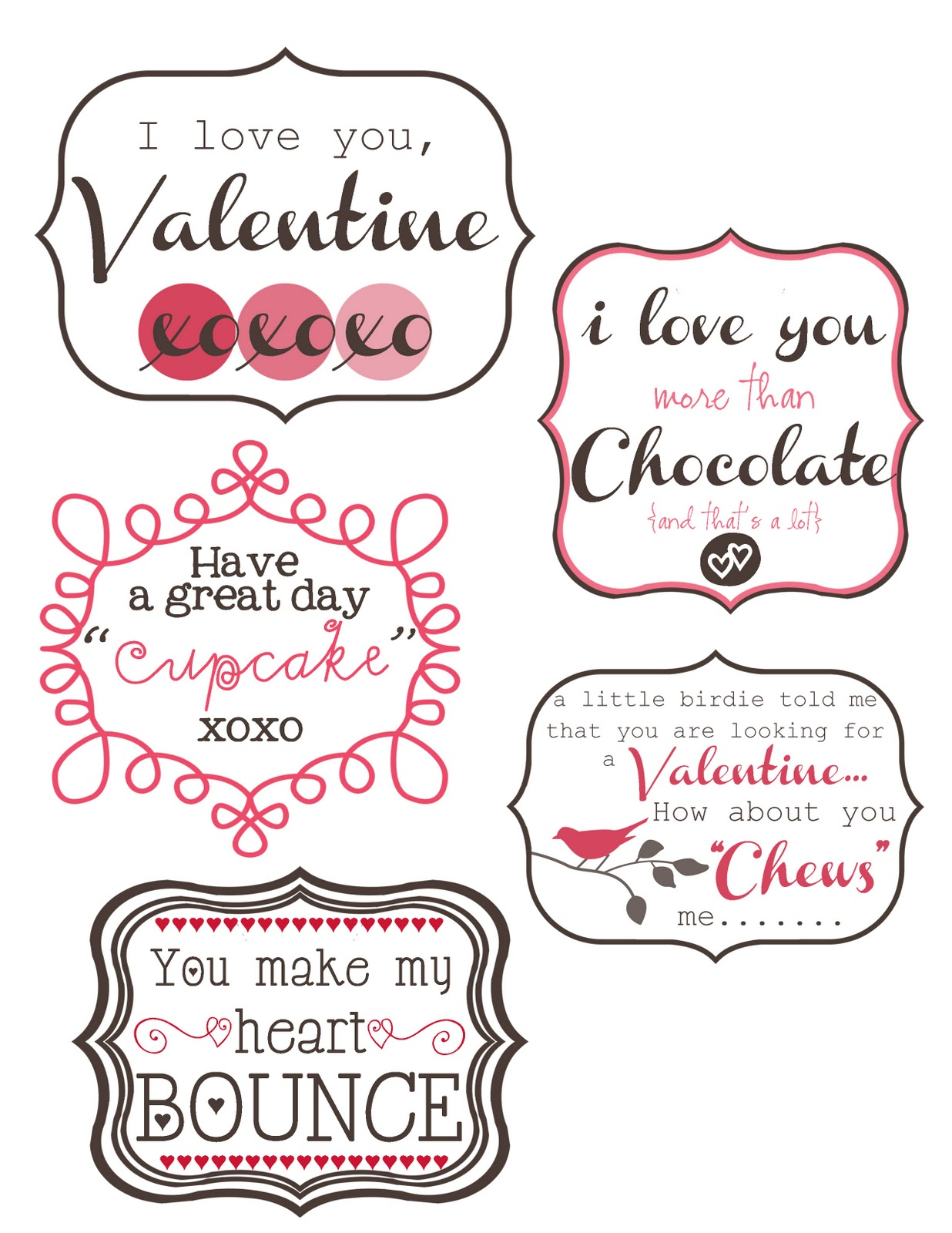 Sweet Little Moments Some Cute Valentine Printables To Jazz Up Your Special Treats