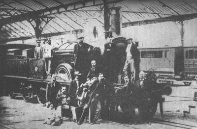 Estación Término de Barcelona en 1848