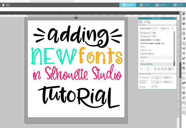 silhouette software, silhouette cameo beginner tutorial, silhouette cameo fundamentals, fonts, silhouette studio for PC