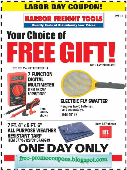 Harbor freight free coupon 2018