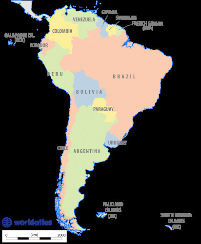 Labeled Argentina Map with Cities