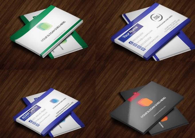 4 in 1 Multi Color Business Card Card Bundle    Business card template free download