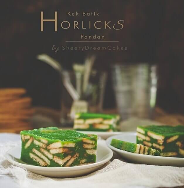 Kek Batik Horlicks Pandan