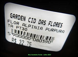 Quanto custa Alpinia Purpurata?