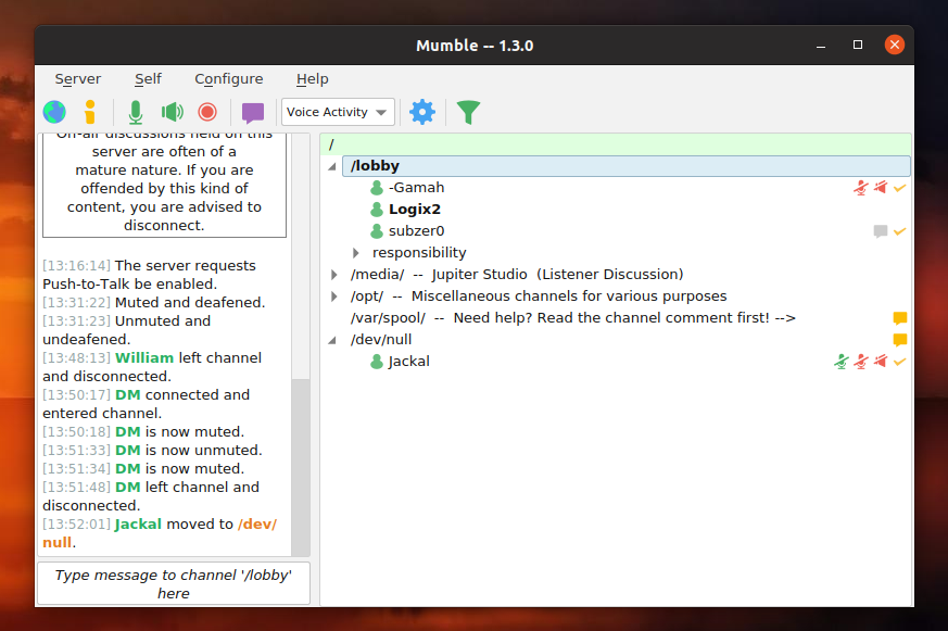 Free VoIP App Mumble 1 3 0 Stable Is Out, First Feature