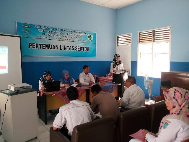 Puskesmas Tanjung Raja Gelar Pertemuan Lintas Sektor