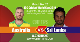 Who will win World Cup 2019 20th Match Australia vs Sri Lanka Today Match Prediction Toss Session Lambi pari Fancy Astrology 100% Fixed Report
