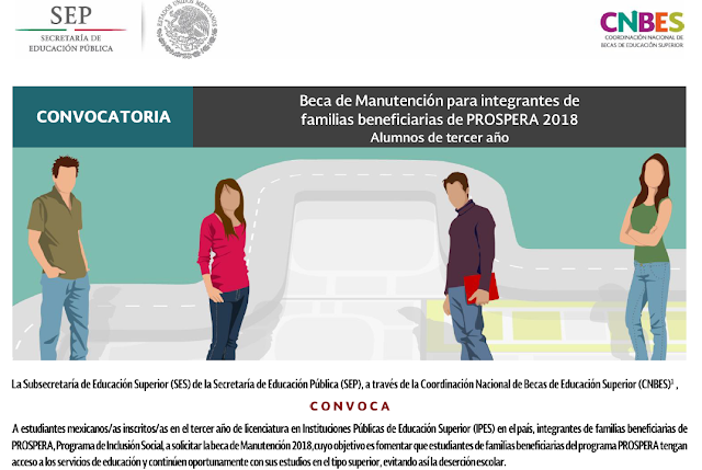 YA SALIO LA CONVOCATORIA DE PROSPERA TERCER AÑO SOLO PUSE LO IMPORTANTEhttps://www.becaseducacionsuperior.sep.gob.mx/files/Comunicacion/Convocatorias/2018/Convocatorias_PDF/CONVOCATORIA_SEP-PROSPERA_TERCER%20A%C3%91O_2018.pdf