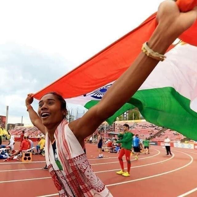 20 दिन में 5 वीं बार जीते गोल्ड मेडल-विश्व एथलेटिक्स चैम्पियन हिमा दास.....