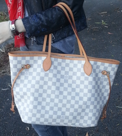 Away From The Blue Louis Vuitton MM Damier Azure Neverfull bag