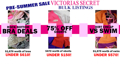 Worlds Sexiest Wholesale Blog New Victorias Secret Lots 6 99 Swim And More