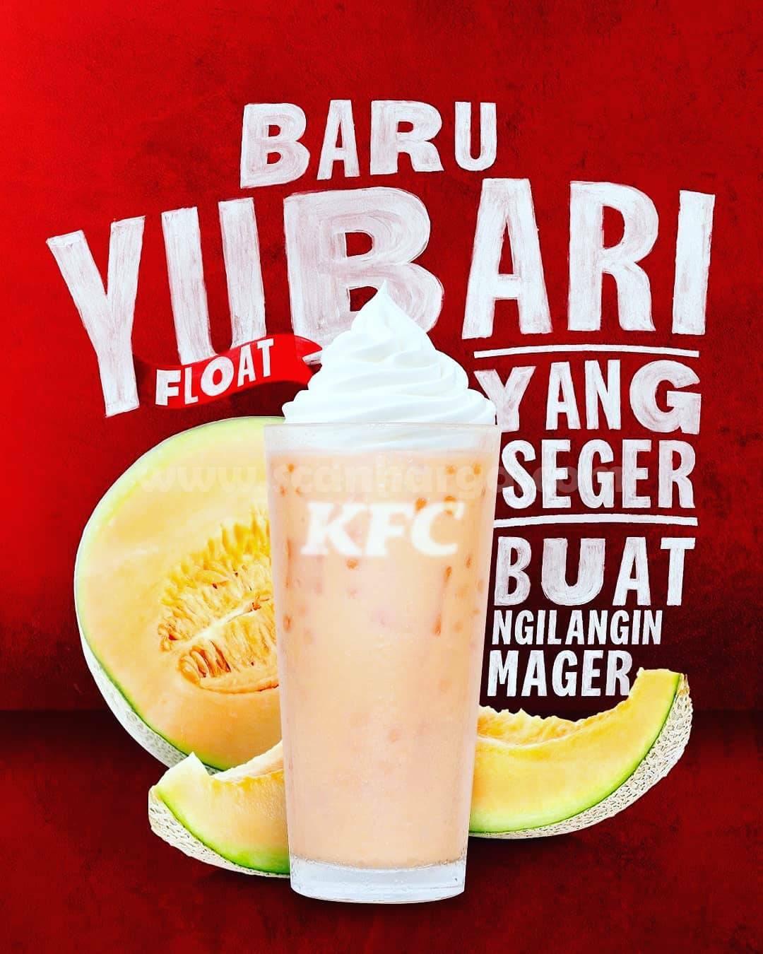 KFC YUBARI FLOAT - Minuman Melon Jepang Terbaru dari KFC