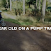 2 year old on a Pump track