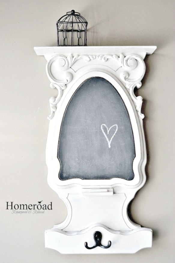 chalkboard with white trim