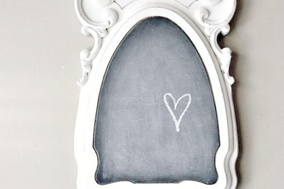 A Repurposed Table Base Chalkboard