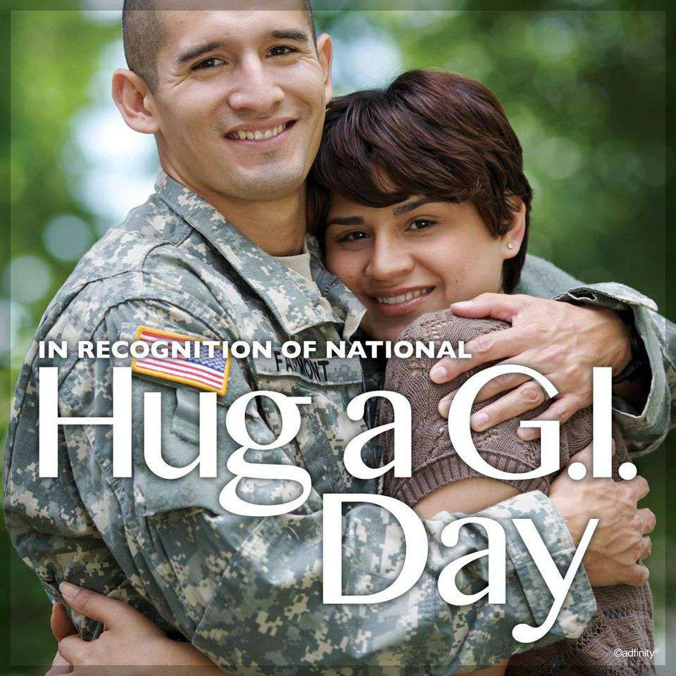 National Hug a G.I. Day Wishes for Whatsapp