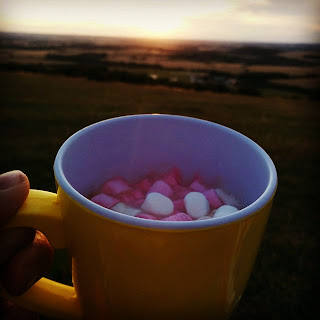 Hot Chocolate at Sunset