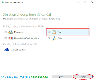 Cài đặt windows live mail 2012 - H02