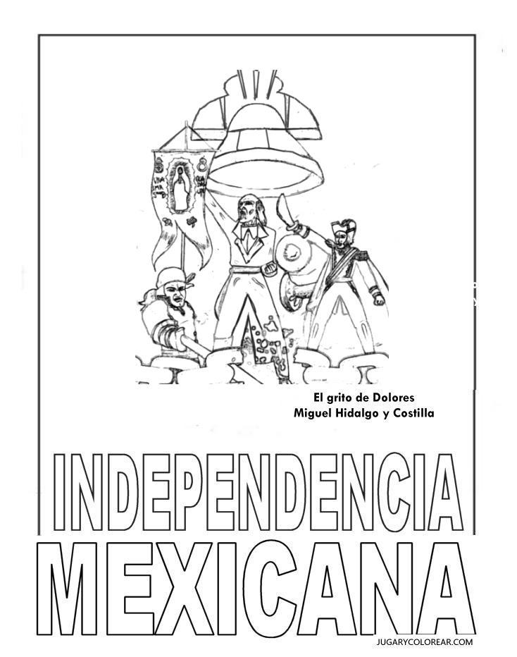 Colorear Día Independencia México Blog De Imágenes