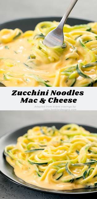 Low Carb Zucchini Noodles Mac and Cheese
