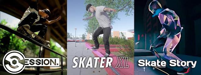 Session VS Skate-XL VS Skate Story Tricks Style