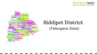 Siddipet District with Mandals