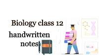 biology class 12 notes| hand written pdf download