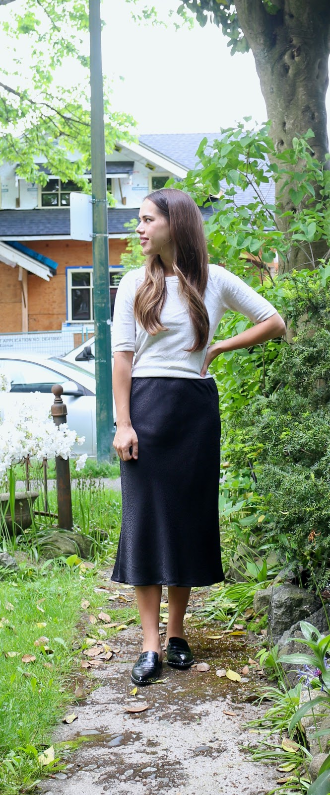 Jules in Flats - Midi Skirt & Sweater (Easy Work from Home Outfit)