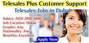Customer Service/Tele Sales Executive Jobs Vacancy in Dubai
