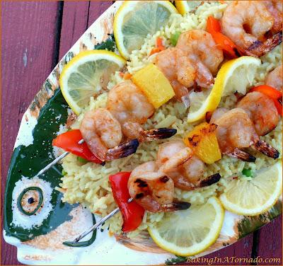 Thai Shrimp Skewers, a quick, light and flavorful summer meal | Recipe developed by www.BakingInATornado.com | #recipe #dinner