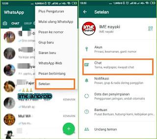 Mengubah ukuran huruf whatsapp
