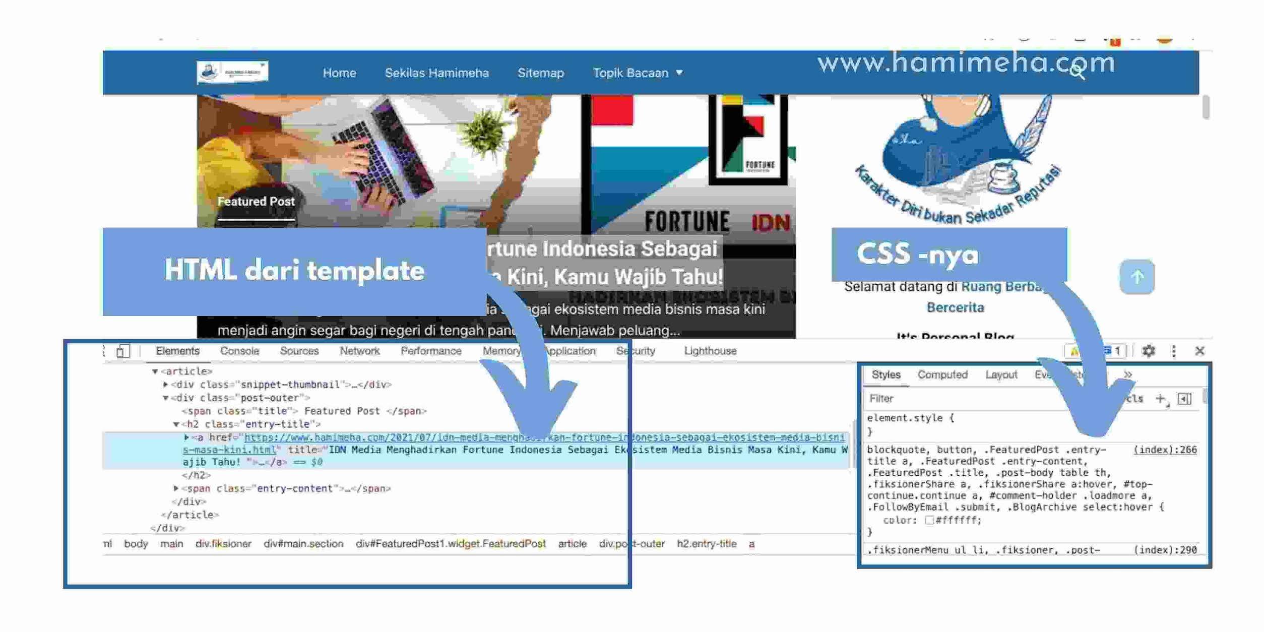 Beda HTML dan CSS